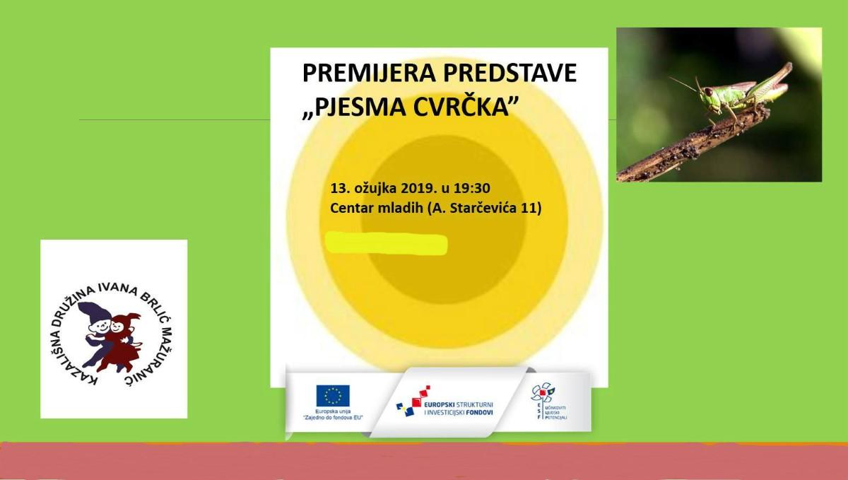 PJESMA CVRČKA - Sl.Brod centar mladih-2019